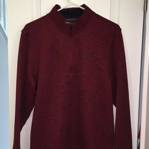 Red Under Armour Storm1 LS Golf T neck Polo shirt